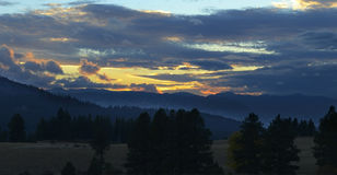Sunset over North Cascades Stock Photo