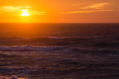 Sunset over the North Sea Stock Photo