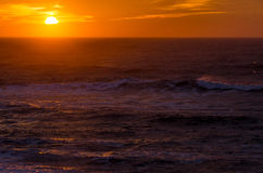 Sunset over the North Sea Royalty Free Stock Images