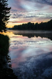 Sunset over the northern river Royalty Free Stock Photography