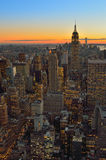 Sunset over a NYC. Stock Image