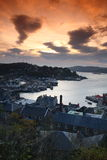 Sunset over Oban Royalty Free Stock Images