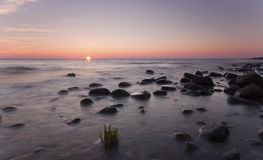 Sunset Over Ocean. Royalty Free Stock Photography