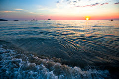 Sunset over ocean. Stock Image