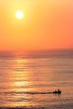 Sunset over the ocean. Beautiful sunset over the ocean Stock Photos