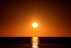 Sunset over Ocean. Adelaide, Australia. Sunset over Ocean.  Larg's Bay, Adelaide, Australia Royalty Free Stock Image