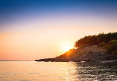 Sunset over the ocean. Beautiful sunset over the ocean Stock Photography