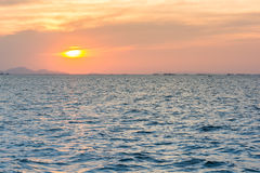 Sunset over ocean Royalty Free Stock Photo