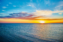 Sunset over the ocean Royalty Free Stock Photos
