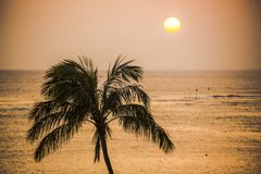 Sunset over the Ocean Stock Photography
