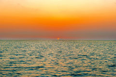Sunset over the ocean in Galapagos Royalty Free Stock Photo