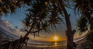 Sunset over Ocean Motionlapse Bali 4k. Sunset motionlapse at Batu Bolong, Bali stock footage