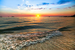 Sunset over ocean, nature Stock Image