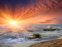 Sunset over ocean Royalty Free Stock Image