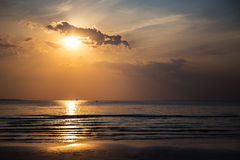 Sunset over the ocean or sea Royalty Free Stock Photos