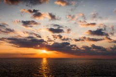 Sunset over the ocean Stock Image