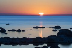 Calm ocean during sunset Royalty Free Stock Photography