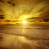 Sunset over the ocean Royalty Free Stock Photo