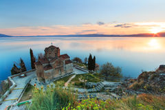Sunset over Ohrid Lake Royalty Free Stock Image