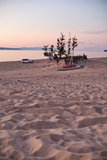 Sunset over Olkhon island beach Royalty Free Stock Image