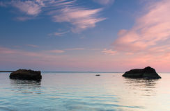 Sunset over one of the beaches Royalty Free Stock Photography