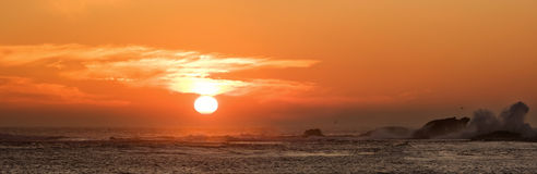 Sunset over Pacific royalty free stock image