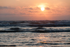 Sunset over Pacific ocean at Cape Lookout, royalty free stock image