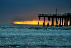 Sunset Over Pacific Ocean Stock Photography
