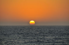 Sunset over the Pacific Ocean Royalty Free Stock Images