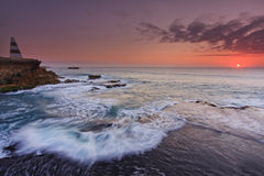 Sunset over Pacific Ocean Stock Images