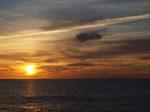 Sunset over Pacific. Photo of sunset over Pacific Ocean Royalty Free Stock Photos