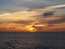 Sunset over Pacific. Photo of sunset over Pacific Ocean Royalty Free Stock Image
