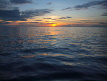Sunset over Pacific. Photo of sunset over Pacific Ocean Royalty Free Stock Images