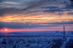 Sunset over Paris Stock Photo