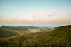 Sunset over Pen Y Fan, Mountain Range, Wales UK Royalty Free Stock Photo