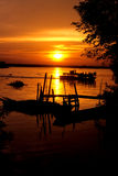 Sunset over Perak River Royalty Free Stock Images
