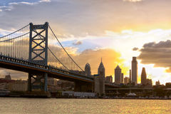 Sunset over Philadelphia Royalty Free Stock Photo