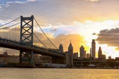 Sunset over Philadelphia Royalty Free Stock Photo