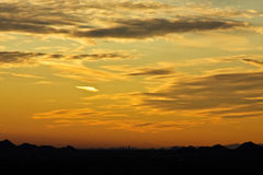 Sunset over Phoenix, Arizona Royalty Free Stock Photo