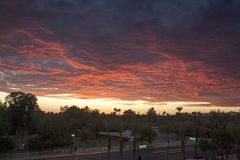 Sunset over Phoenix Royalty Free Stock Photography