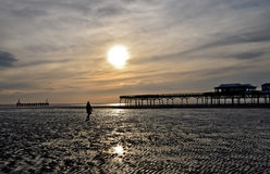 Sunset over the pier Stock Photography