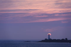 Sunset over Pigeon Point Light House Stock Photography