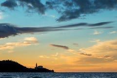 Sunset over Piran, Slovenia Stock Image