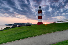 Sunset over Plymouth Hoe Stock Image