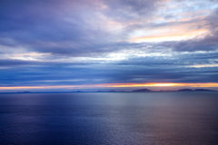 Sunset over Isle of Skye, Scotland Royalty Free Stock Image
