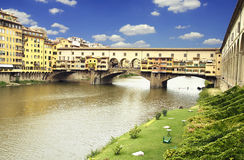 Sunset over Ponte Vecchio Royalty Free Stock Photo