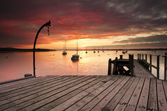 Sunset over Poole harbor royalty free stock photos