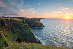 Sunset over Port Gaverne Royalty Free Stock Photo