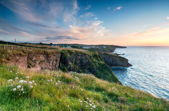 Sunset over Port Isaac Royalty Free Stock Photos