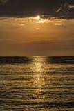Sunset over Porto Katsiki beach - Lefkada island, Greece Stock Photography